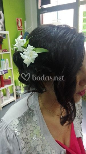 Lateral con flores naturales