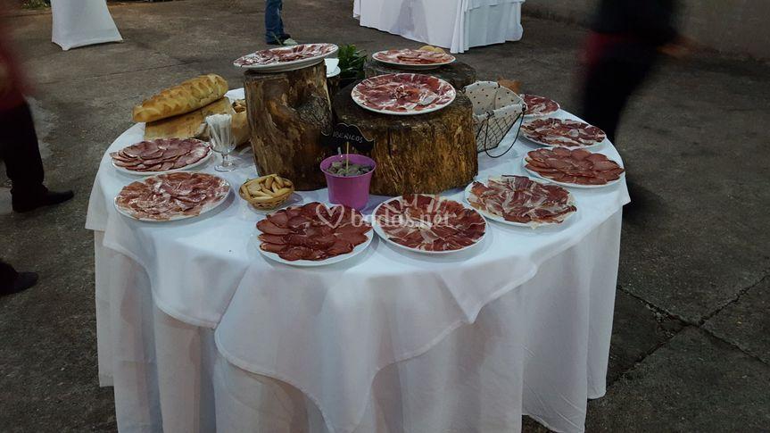 Mesa buffet de ibéricos