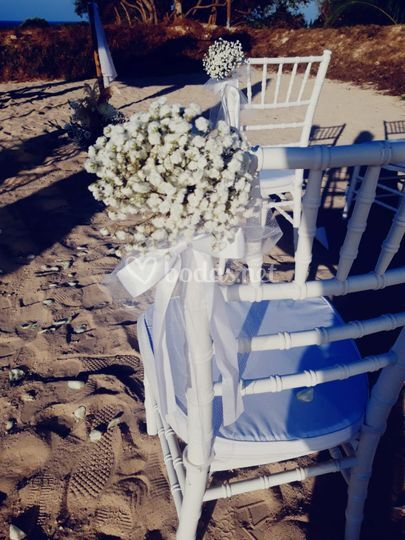 Sillas de ceremonia Boda N&P