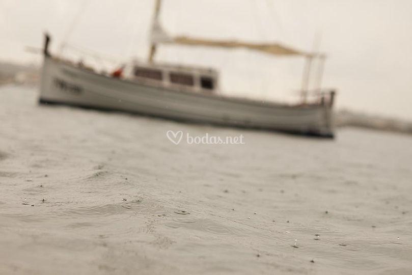 Navegando en la lluvia