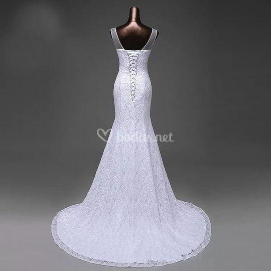 Vestido de novia de espaldas
