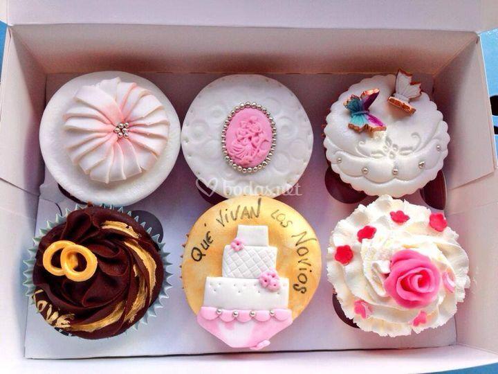 Cupcakes de boda.