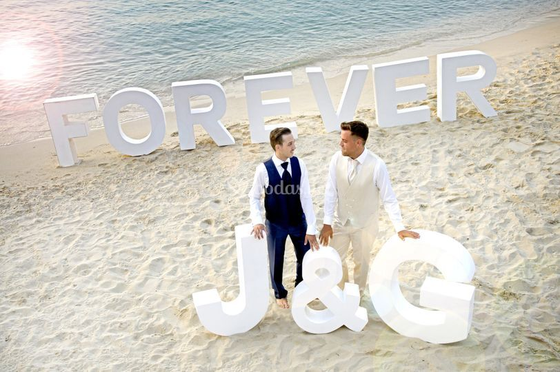 Letras J&G Forever