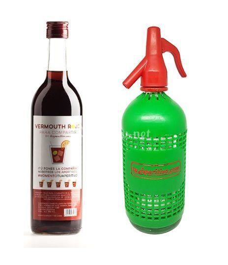 Pack de vermouth y sifón