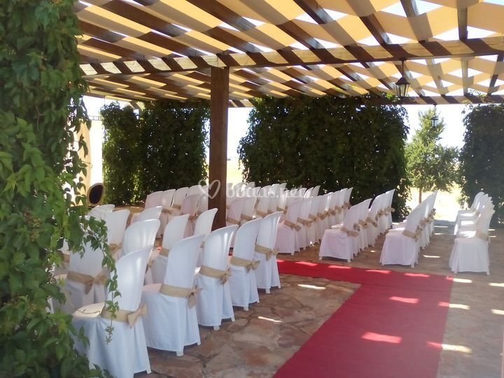 Pérgola ceremonia