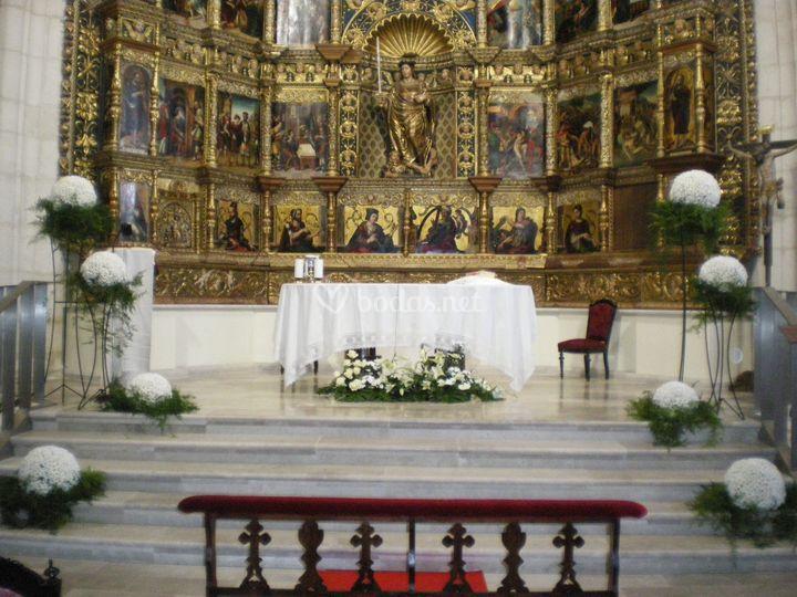 Decoración ceremonia religiosa