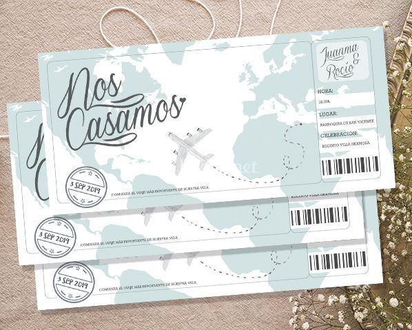 Invitación boarding pass