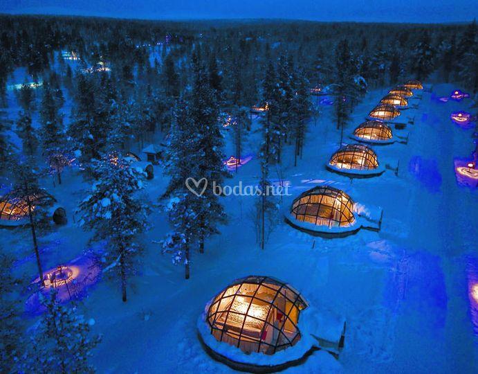Luna de miel en Laponia