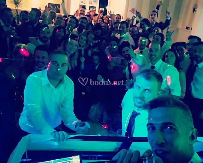 Selfie con invitados