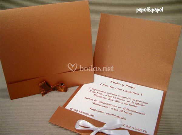 Invitacion color cobre