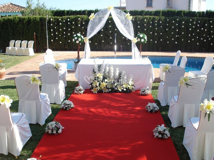 Decoración de la boda