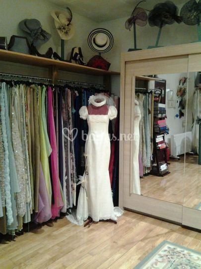 Vestido de novia rústico