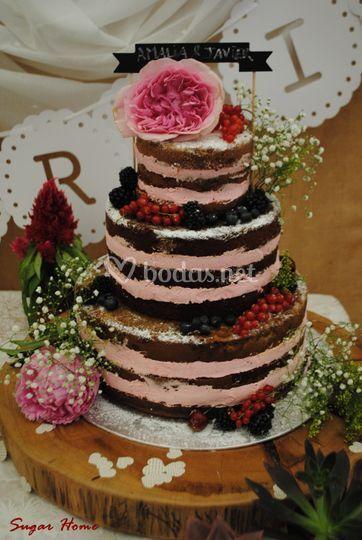 Naked cake nupcial