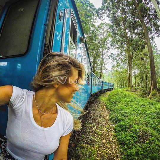 Sri Lanka, mini trayecto en tren