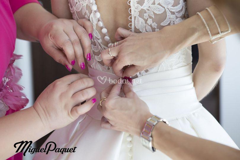 Preparación boda Romina