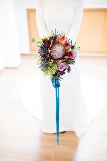 Ramo de novia de proteas