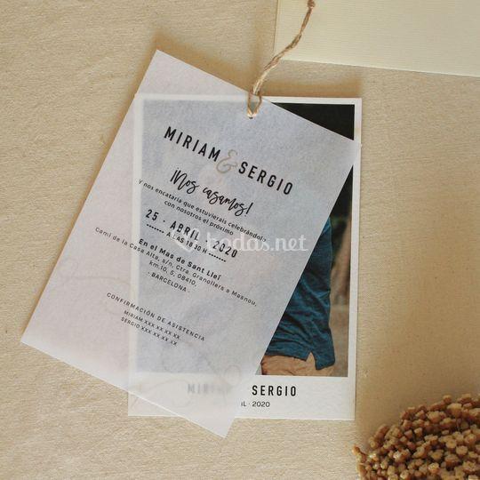 Invitación de seda