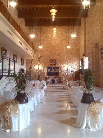 Ceremonia en el salon medieval