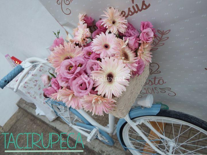 TaciBici con flores