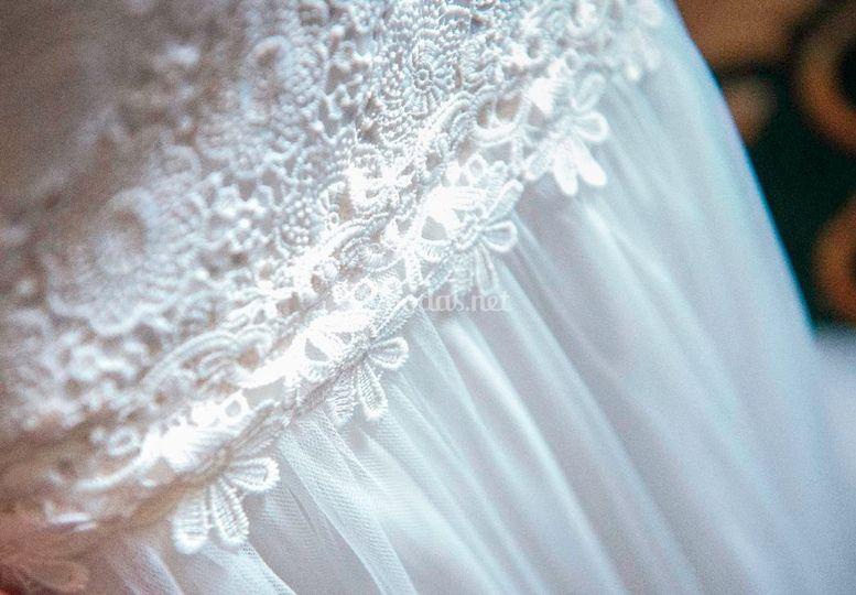 Detalles de vestidos de novia