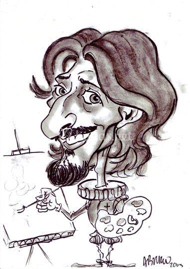 Caricatura de Alfredo Bravo