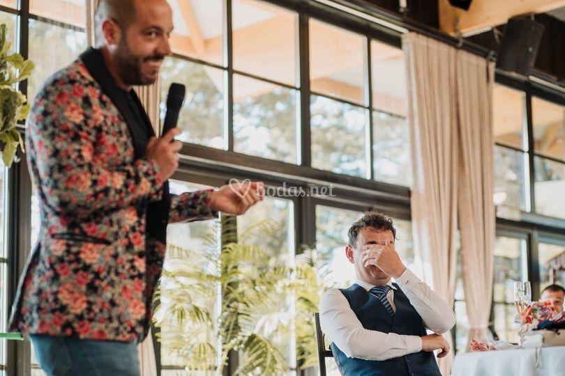 Manu Baeza, monólogos para boda