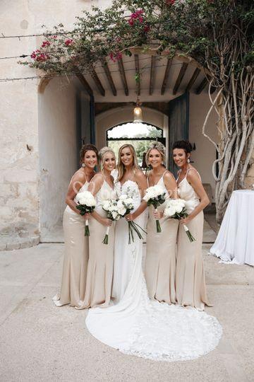 Bridesmaids at Finca Biniorell
