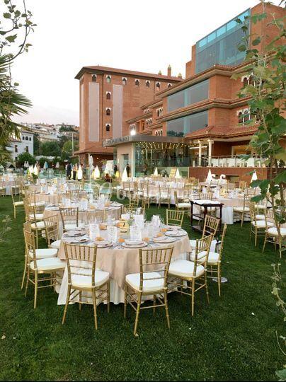 Boda en jardines hotel