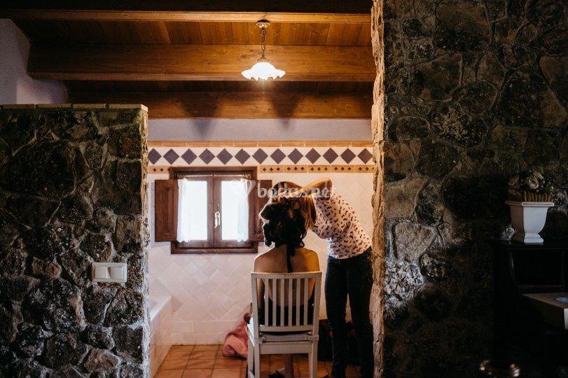 Boda de Alba y Joan. Preparativos de la novia