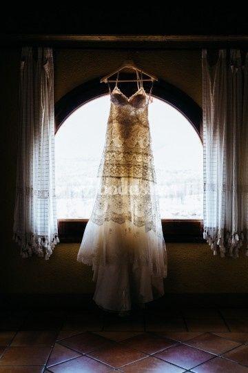 Boda de Alba y Joan. Vestido de novia