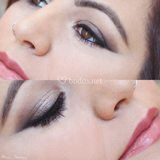 Maquillaje novia rasgado
