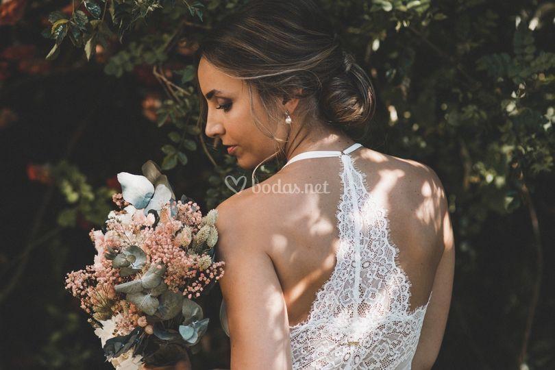 Maquillaje de novia elegante