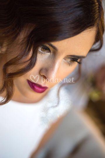 Maquillaje novia burdeos