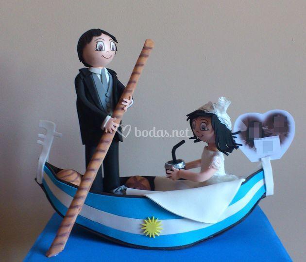Panadero y novia argentina