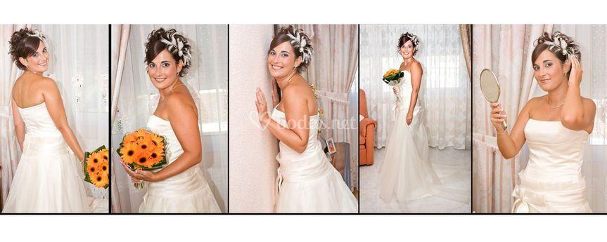 Montaje de la novia