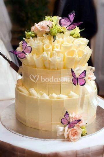 Tarta de bodas mariposas