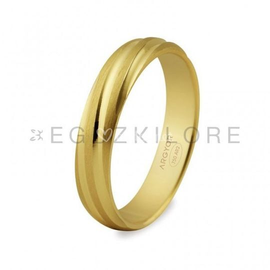 Alianza de oro amarillo espiral