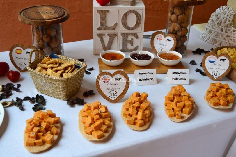 Buffet de boda - Gouda chilii