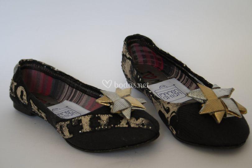 Zapatos forrados reciclados