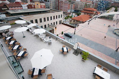 Terraza vista desde habitación