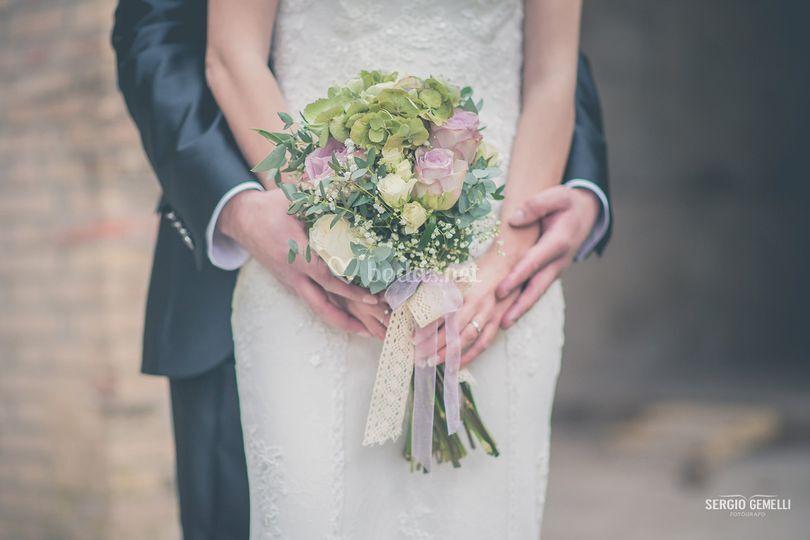 Bonito bouquet de novia