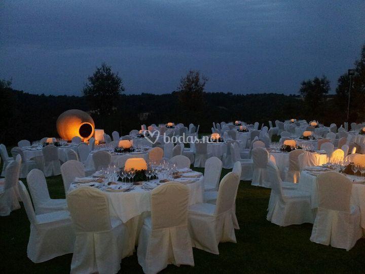 Banquete al exterior