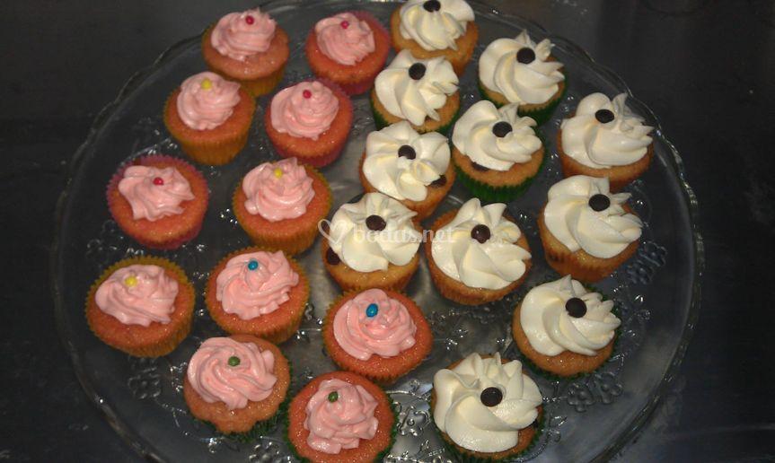 Surtido de mini cupcakes