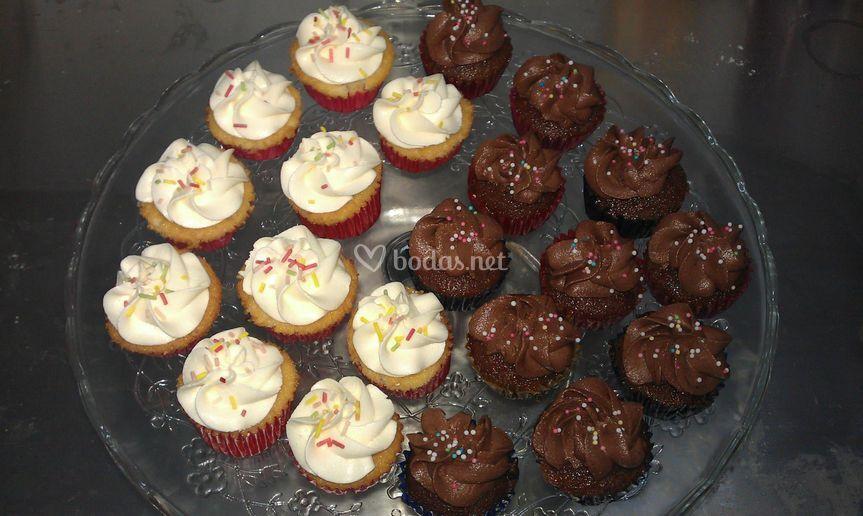 Mini cupcakes de dos sabores