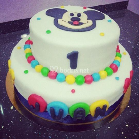 Tarta Mickey para cumpleaños