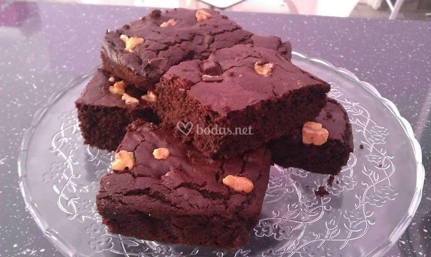 Browbie de chocolate y nueces