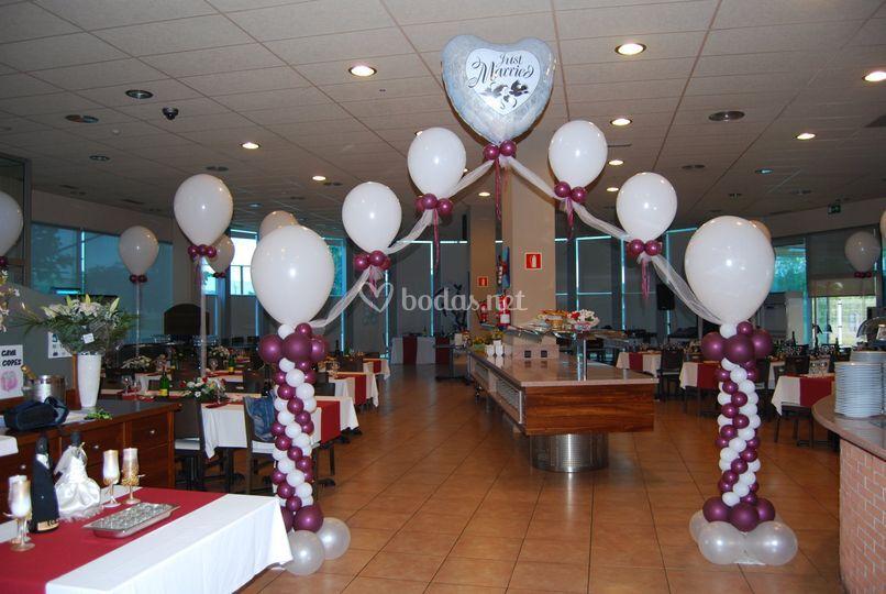 Arcos, recepción para los invitados