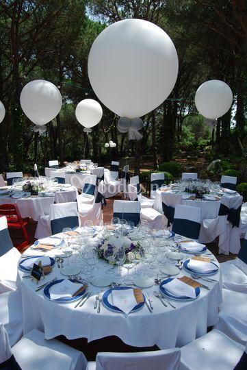 Centro de mesa globo gigante
