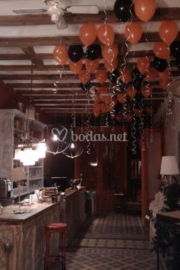 Espacios decorados con helio