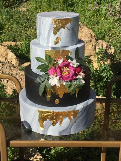 Marble cake Peony